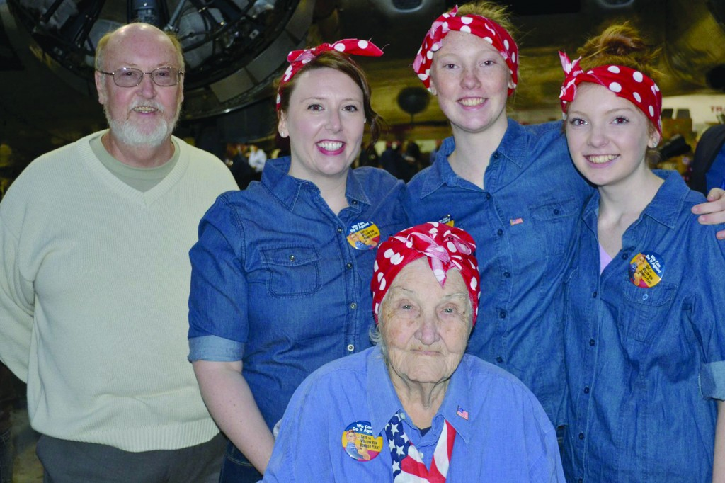 Ruth's family- son Robert, granddaughter, Amanda, great granddaughters Kelsey and Kaylee, and Ruth all participated in the Count the Rosies event.