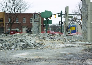 The former Rex's Restaurant was demolished in January to make room for Wayne's first McDonald's.