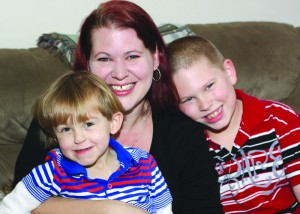 Sarah, with Joshua and Daniel, says every day with her boys is a blessing.