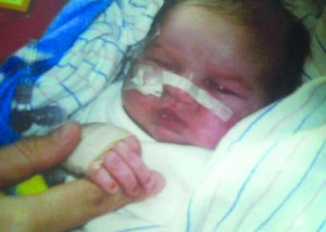 Joshua after he was born.