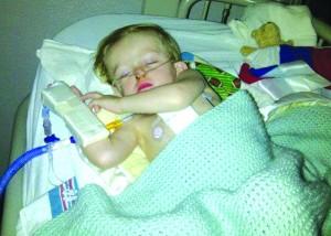 Joshua has had nine surgeries including three open heart surgeries.