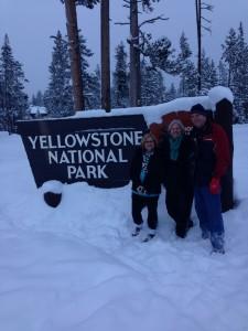 Bob and Julie Pugh with Sarah Monroe at Yellowstone National Park.