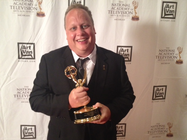 Steve Julin with Emmy
