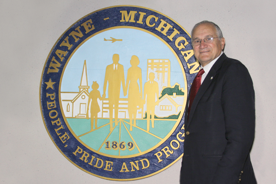 Mayor Haidous has served the City of Wayne for 21 years. He has run nine elections and won every one of them. He served eight years as a city councilman and then was the first mayor elected by the residents of Wayne. Photo by John P. Rhaesa