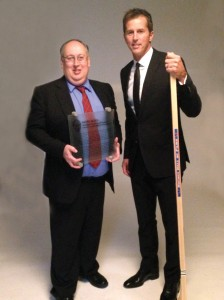 Kevin received the Elmer Ferguson Award the same day Westland native Mike Modano was inducted into the Hockey Hall of Fame.