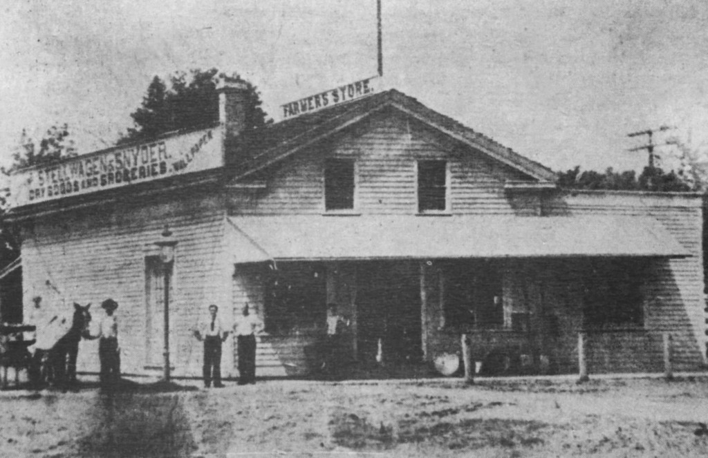The Farmer's Store was built in 1848 by Williams Steers but John C. Stellwagen purchased it in 1880 and ran the business until he took on a partner, Antony (Tony) Snyder, in 1907. They were in business in Wayne for many years. The building was demolished in 1960 during urban renewal.