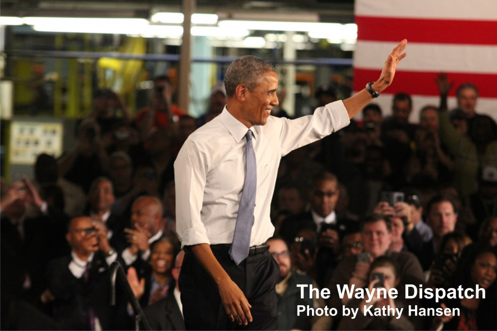 President Obama and the Michigan Assembly Plant in Wayne, MI. Photo by Kathy Hansen