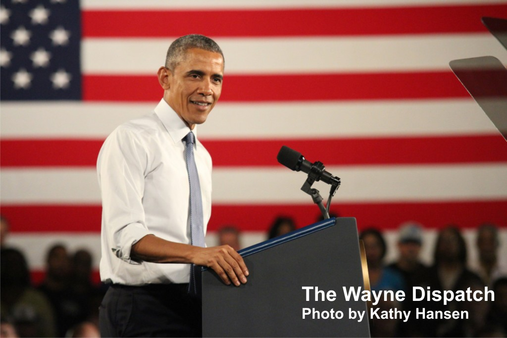 President Barack Obama believes the American auto industry is coming back. Photo by Kathy Hansen