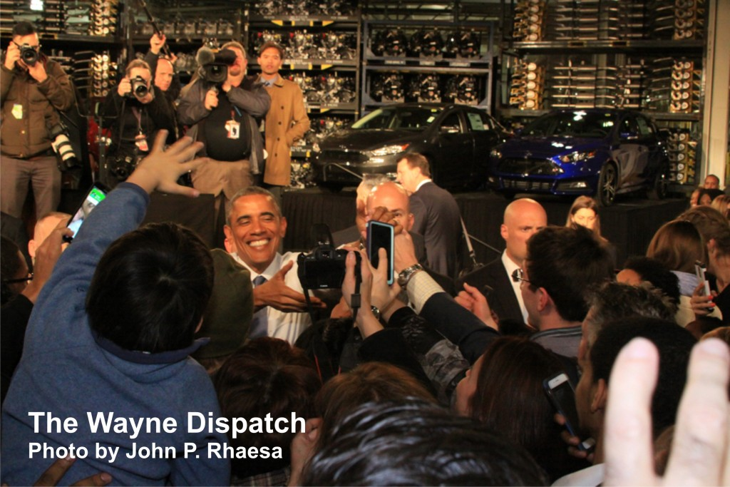 President Obama and the Michigan Assembly Plant in Wayne, MI. Photo by John P. Rhaesa