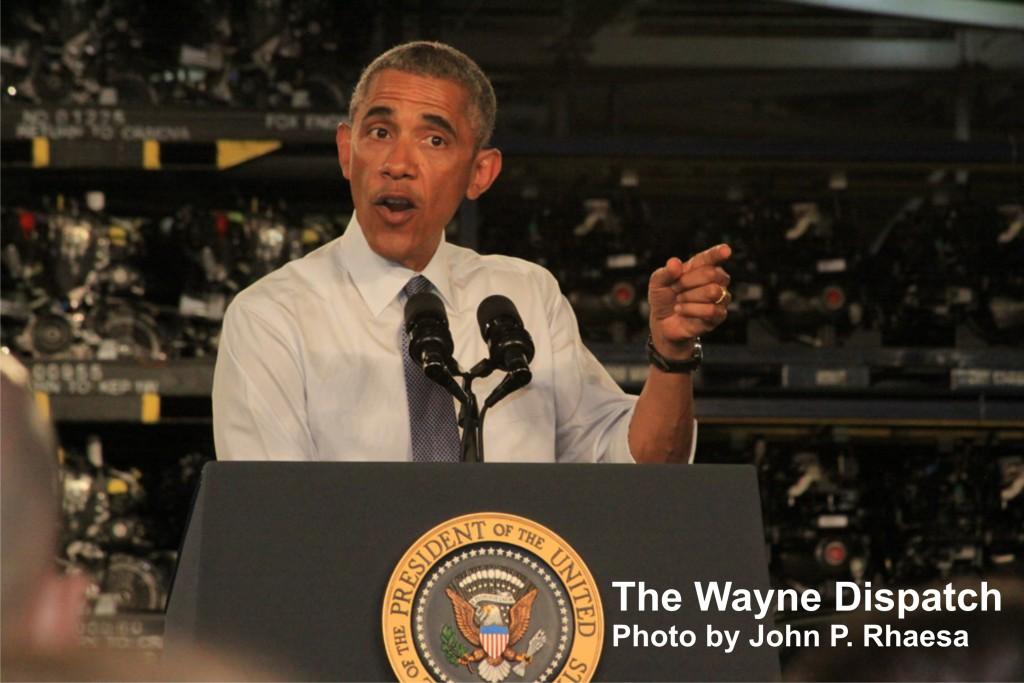 President Obama and the Michigan Assembly Plant in Wayne, MI. Photo by John P. Rhaesa