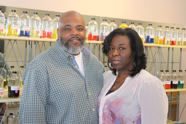 Keith Knight and his wife, Shannon, co-owners of Mr. Keith's Designer Fragrance.