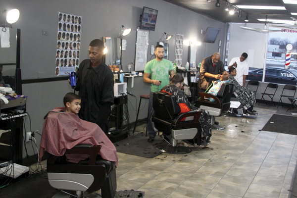 Gents on the Ave is a four-stool barbershop located on westbound Michigan Avenue next to the Chamber of Commerce.