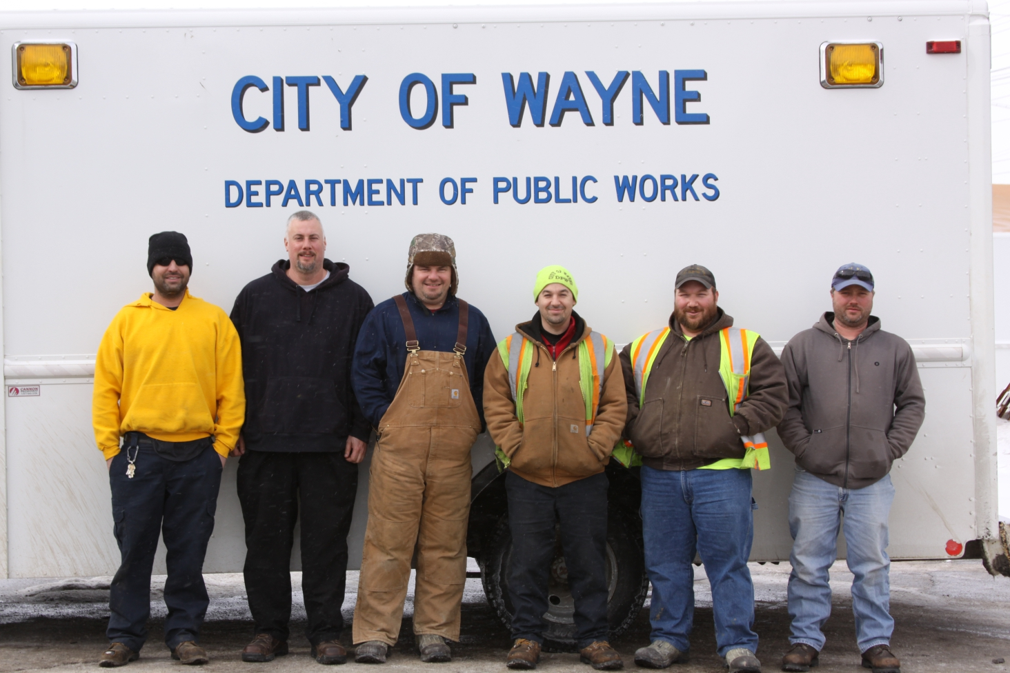 Unsung hereos of Wayne's Department of Public Works Mike Britton,  Mike Schuell, Chuck Hannah, Steve Curley, Brian Smith and Craig Krzeninski. Photo by John P. Rhaesa