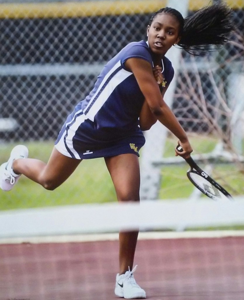 Janae' Strickland, 17, ended her senior year tennis season with a 17-4 record, she was team captain and won a couple first place medals during tournaments.