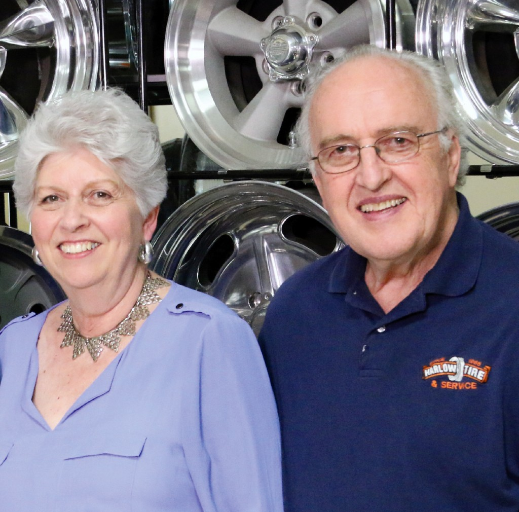 Margaret and Jim Harlow celebrated Harlow Tire and Auto Services 50th anniversary.