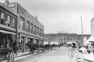 Downtown Wayne in the late 1800's off Monroe Street notice what is today Greater Than Dreams Church in the background.