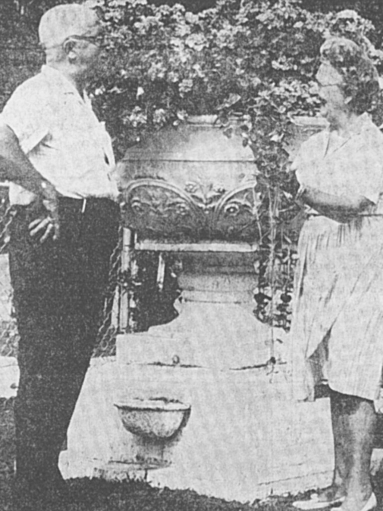 In 1954 Zephir Charron acquired the urn and kept it on his yard for many years later to be moved to the Wayne Historical Museum. Photos courtesy of The Wayne Historical Museum