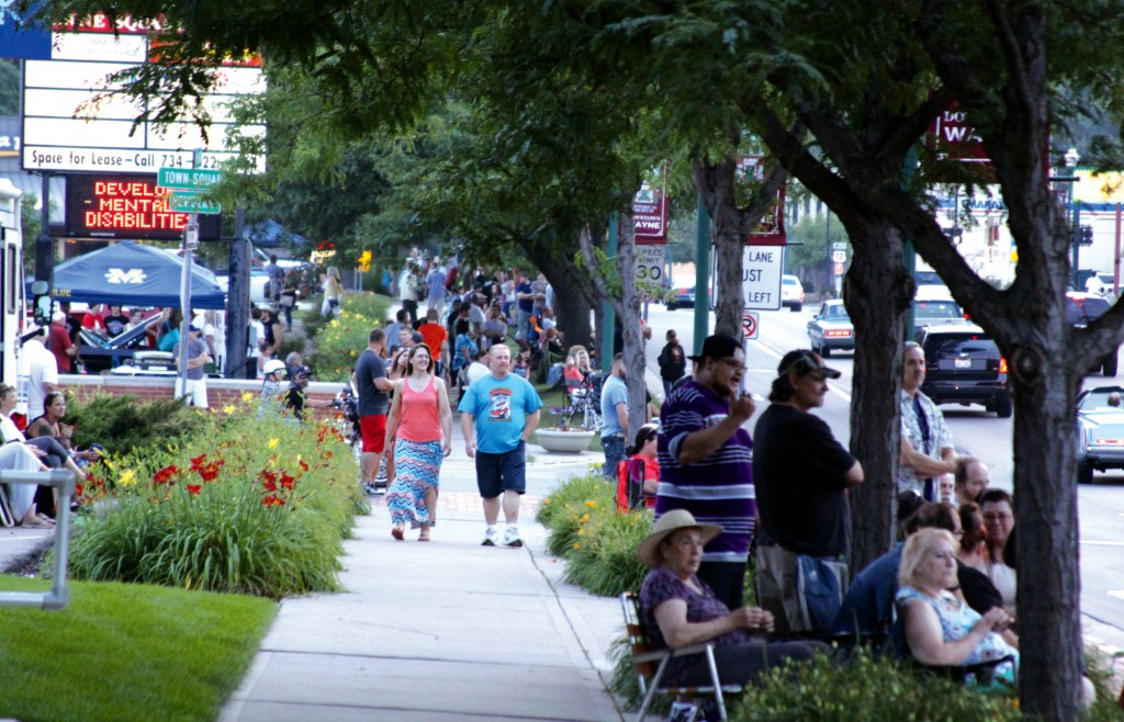 Streets of Downtown Wayne were full of spectators for Cruisin' US 12.