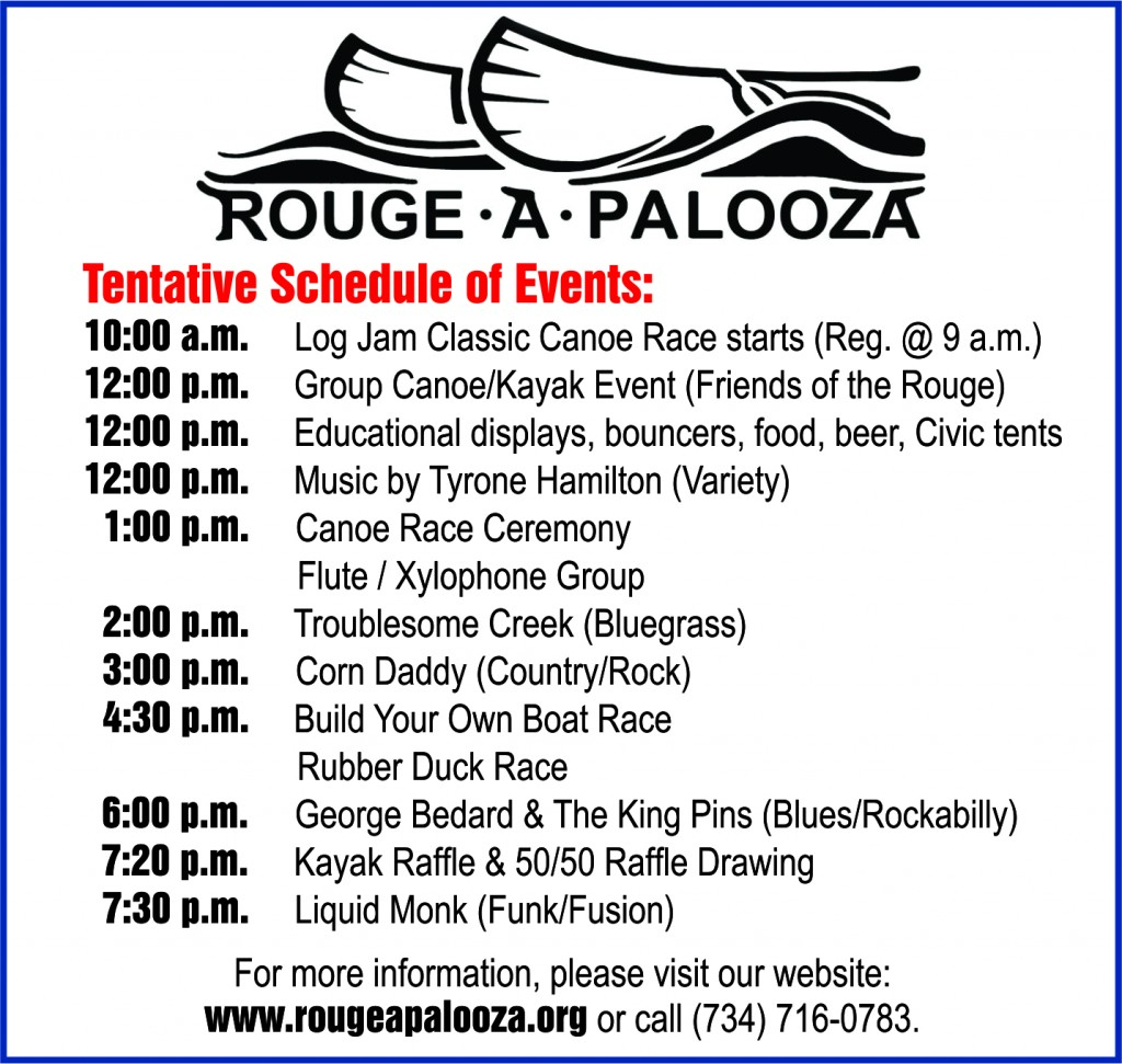 Rouge A Palooza Schedule