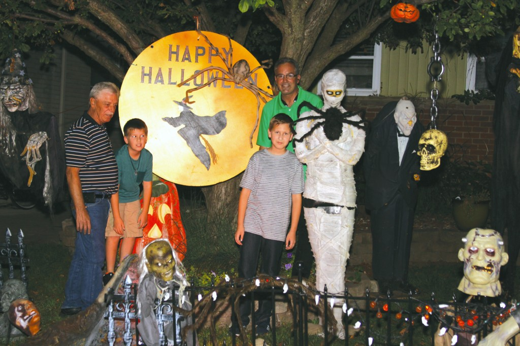 Halloween Spirit - Wayne resident Larry Reid helps neighbors get ready for a festive Halloween.  Larry has decorated his yard at 33600 Gertrude in Wayne to set the stage for ghosts, goblins and trick-or-treat fun.  Stop by and enjoy one of the best Halloween displays in town.