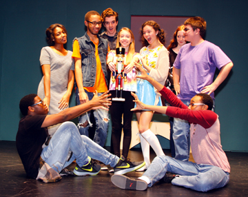 "Front left to right: Malachi Sauls and Joesph Wise, Back: Aliyyah Spencer, Orlando Simpson, Ryan Wells, Casey Grauzer, Alicia Highland, Jessica Boyce and Alex Sambrone will performing in ""The Nutcracker"" at Wayne Memorial High School November 19th trough the 21st. Photo by John P. Rhaesa"