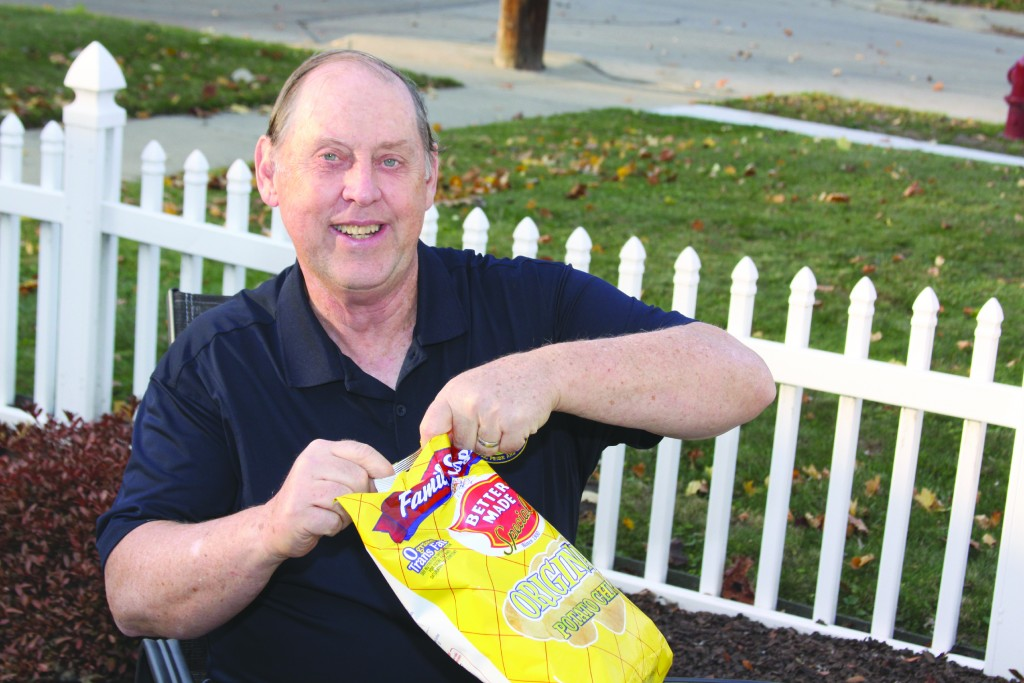 "Councilman Albert ""Chips"" Damitio celebrates retirement with his favorite snack."