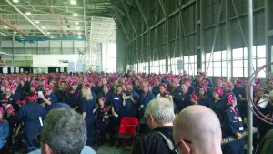 The Willow Run Bomber Plant now holds the Guinness World Record title for largest gathering of Rosie the Riveters with 2,096.