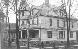 The Stellwagen house was located on Monroe Street and faced the Village Park.  The third floor housed a ballroom.