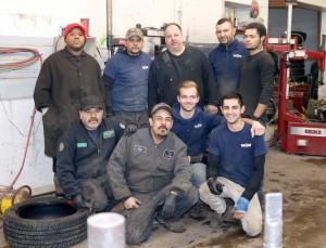 Ready to serve you, front: Fernando, Noe, Joey, Francesco back: Coijon, Matteo, Mike, Noe and Kyle. Photo by John P. Rhaesa