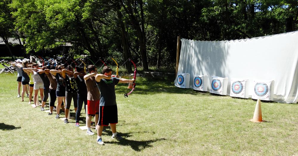 Upward Bound students work on their team bulilding skills. Photos by Kathy Hansen