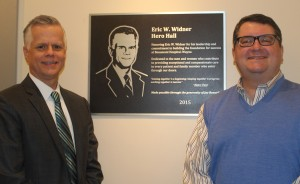 Division President Eric W. Widner and Jay Bonnell, corporate controller of Beaumont Hospital Wayne.