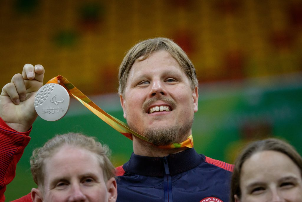 Joe Hamilton wins Silver medal in the Paralympics in Brazil. Photo by Joe Kusumoto, Courtesy of USOC