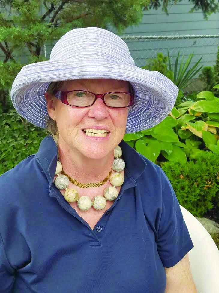 JoAnn Hanson in her garden.